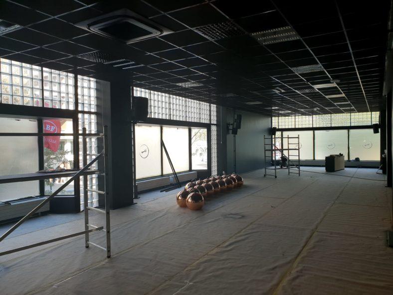 Nya nattklubben SENSE under uppbyggnad